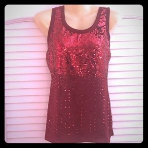 The Limited: Sparkly red tank